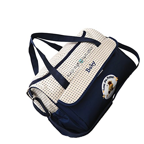 Wickeltasche Umhängetasche Babytasche Handtasche Tote Henkeltaschen Windeltasche für Mama und Papa - Marine, wie beschrieben