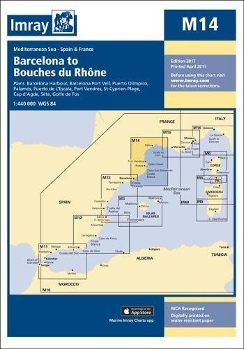 Imray Chart M14: Barcelona to Bouches Du Rhone (M Series)