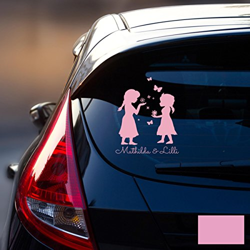 Autotattoo Heckscheibenaufkleber Fahrzeug Sticker Aufkleber Baby Schneeprinzessin Kinder M1872 - ausgewählte Farbe: *flieder* ausgewählte Größe: *M - 18cm breit x 25cm hoch*