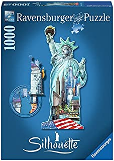 Ravensburger Statue of Liberty Jigsaw 1000 Piece Jigsaw Puzzle for Adults – Every Piece is Unique, Softclick Technology Means Pieces Fit Together Perfectly
