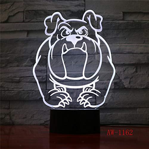 Visuelle Illusion Lichter Bulldogge Pudel Jack Russell Terrier Rottweiler Dobermann LED Kind Nachtlicht Hund Schreibtisch Licht 3 No Controller