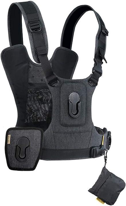 Imbracatura professionale per una o due fotocamere e qualsiasi tipo di obiettivo cotton carrier g3 147 3746