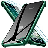 Joyguard Funda Compatible con iPhone SE 2020 con 2 Protector de Pantalla, Funda para iPhone 8 Funda para iPhone 7 Funda para iPhone SE 2020-4.7 Pulgada Verde