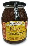 Miel de Eucalipto con Propóleo - 1kg - Producida en España - Mejora tus defensas y tu sistema circulatorio - Alta Calidad - Aroma Amaderado Intenso, Sabor Rico y Dulce