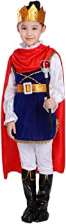 Kawaayi(カワアイ)クリスマス コスプレ 王子様 キッズ 子供用 男の子 衣装 ハロンウィン コスチューム コスプレ 可愛い 仮装 変装 パーティー 学園祭 演出服 大きいサイズ (100cm, 王子様)