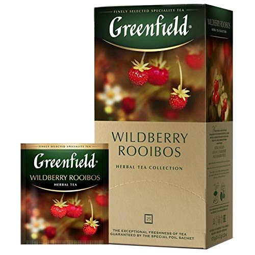 Tee Greenfield herbal WILDBERRY Rooibostee mit Erdbeer/Cranberry 25 Beutel