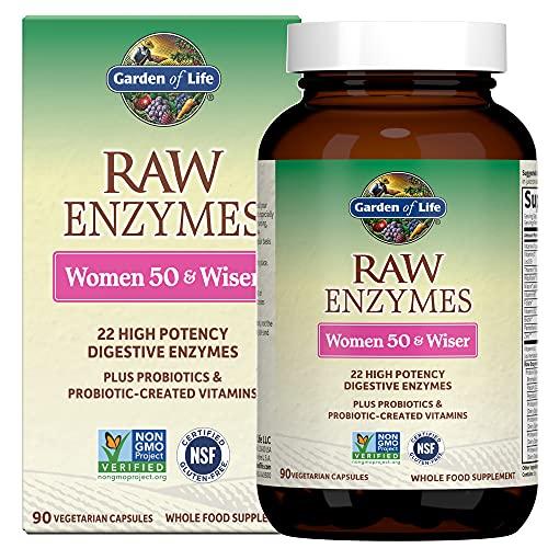 Garden of Life Vegetarian Digestive Supplement for Women 50 & Wiser -...
