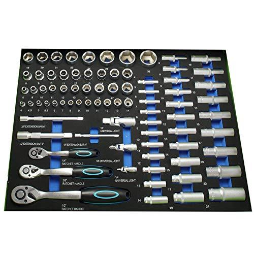TrutzHolm® Werkstattwagen Premium XXL bestückt Profi-Werkzeug aus Chrom-Vanadium 7 Schubladen und ein Seitenfach gefüllt Assistent Werkzeugwagen - 3