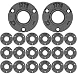 Brooklyn Pipe 20 Pack 1 Inch Floor Flanges   1 Inch Threaded Flange   Iron Metal Flange   Industrial Pipe Decor   Iron Flange Pipe Fittings (20 Pack)