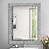 MIRROR TREND 24 x 32 Inches Silver Beveled Mirrors for Wall Mirrors for Living Room Large ...