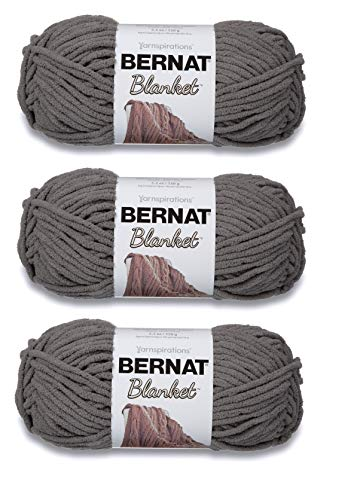 Bernat 161200-44 Blanket Yarn - Dark Grey