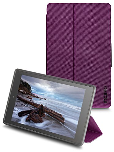 Incipio Clarion Folio Fire HD 8 Case (Previous Generation - 2015 release), Plum Purple