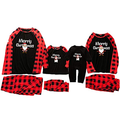 2020 Familie Outfit Schlafanzug Weihnachts Eltern Kind Pyjama Set Familien...