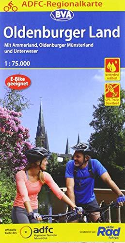 ADFC-Regionalkarte Oldenburger Land mit Tagestouren-Vorschlägen, 1:75.000, reiß- und wetterfest, GPS-Tracks Download: Mit Ammerland, Oldenburger Münsterland und Unterweser (ADFC-Regionalkarte 1:75000)
