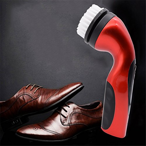 Limpiador De Zapatos, Zapatos De Cuero Eléctricos De Mano Brillo De Brillo...