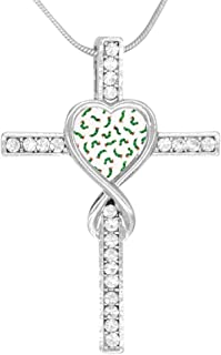 M100% Cross Love Heart Infinity God 3D Print Jewelry The Very Hungry Caterpillar Cross Pendant Necklace