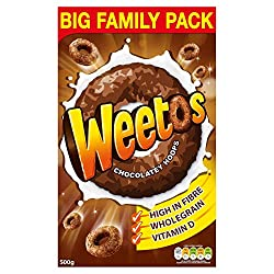 Weetabix Weetos Chocolatey Hoops, 500 g
