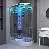 Maclean International Limited T/A I <span class='highlight'>Insignia</span> Steam <span class='highlight'>Shower</span> Cabin Enclosure 1100 x 700 LH Quadrant Body Jets Premium