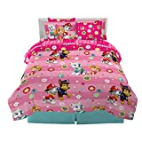 Franco Kids Bedding Super Soft Comforter and Sheet Set with Sham, 7 Piece Full Size, Paw Patrol Girls