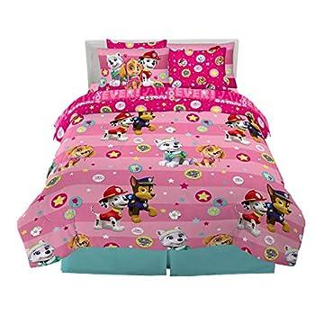 Franco Kids Bedding Super Soft Comforter and Sheet Set with Sham 7 Piece Full Size Paw Patrol Girls