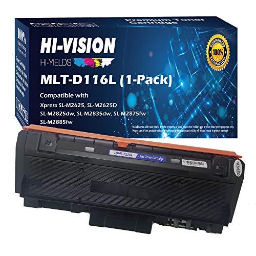 HI-Vision Compatible Toner Cartridge Replacement for Samsung MLT-D116L MLTD116L D116L 116L High Yield Black Work with Xpress M2885FW M2835DW M2825FD M2875FW M2875FD M2625D Laser Printers (1 Pack)