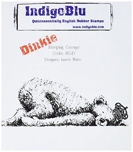 IndigoBlu Selbstklebender Stempel, 10,2 x 10,2 cm, Sleeping George Dinkie