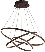 Huahan Haituo Nowoczesny metalowy żyrandol LED trzy okrągłe wiszące światła design lampa sufitowa do sypialni salonu salon...