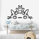 Etiqueta de la pared arte PVC arte de la pared mi vecino Totoro habitación de los niños vinilo sala de estar decoración del hogar 42X75Cm