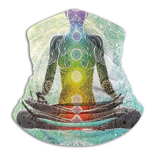 Yoga Mandala Zen Meditación Hippie Chakra Bufanda Calentador de Cuello Suave Microfibra Headwear Cara Bufanda Máscara para clima frío Invierno Deportes al aire libre