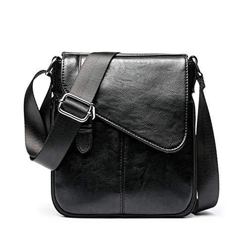 Boss Bag Heren Schoudertas Eenvoudige Messenger Bag Zakelijke Casual Bag Kleine Tas Mannen Tas Outdoor Portemonnee Card Opslag (Kleur: Zwart, Maat : L)