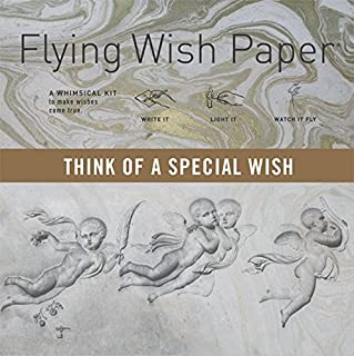"""Flying Wish Paper - THINK OF A SPECIAL WISH - ANGELS with Marble Pattern - 5\"""" x 5\"""" - Mini Kits"""