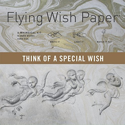 """Flying Wish Paper - THINK OF A SPECIAL WISH - ANGELS with Marble Pattern - 5"""" x 5"""" - Mini Kits"""