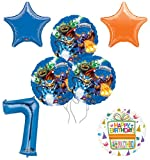 Mayflower Products Skylanders 7th Birthday Party Supplies and Balloon Decoration Bouquet Kit