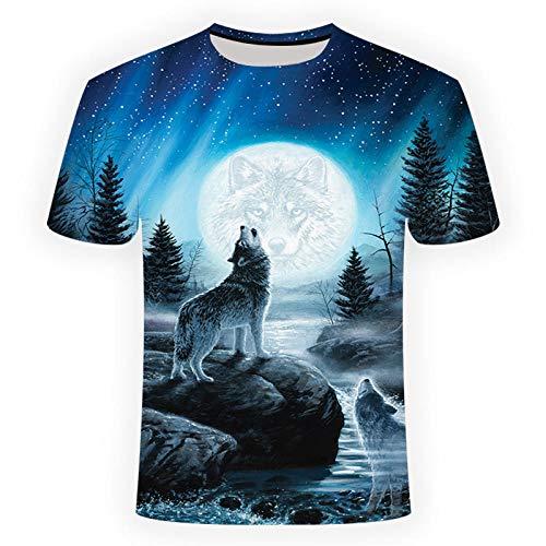 Mens T Shirt 3D Print Round Neck Casual Slim Fit Short Sleeve Top Shirt...