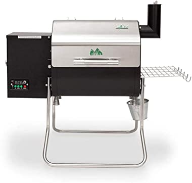 Green Mountain Davy Crockett Sense Mate Electric Wi-Fi Control Foldable Portable Wood Pellet Tailgating Grill with Meat Probe