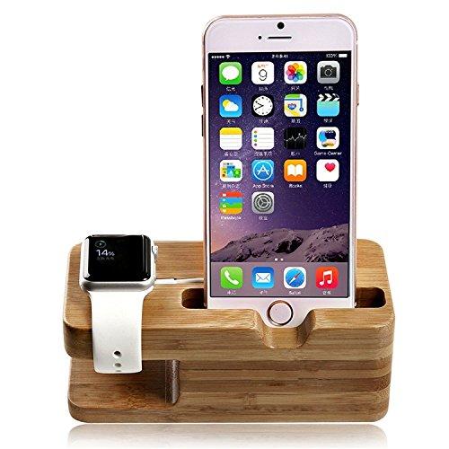 Lamavido Compatible for Apple Watch Stand, lamavido Apple watch il legno posizione di Bambù di ricarica Docking Station per Apple Watch e iPhone 5 / 5S / 5C / 6/6 PLUS / 6S / 6S