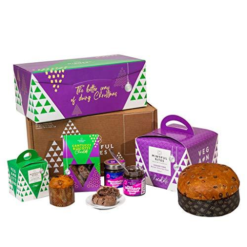 Vegan Hamper | Vegan Chocolate Panettone, Cantucci Biscotti Biscuits, Chocolate Spread, Chocolate Flavour, Vegan Gift