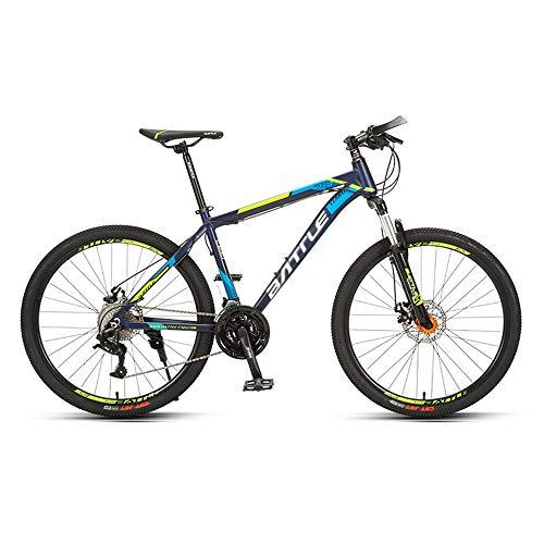 Bicicleta de Campo Traviesa, Bicicleta de Carretera, NeumáTicos de 26 Pulgadas, 27 Velocidades, Marco de AleacióN de Aluminio, Bicicleta de Freno de Disco de LíNea, Adecuada para Adultos /