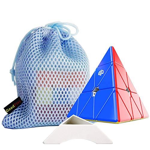 Ganspuzzle GAN 3x3 M m m AG Net IC Pyramid GAN Pyraminx M Triangle Magic Cube Core Positioning Standard Edition sin GES + Pieza + una Bolsa de Cubo y un Soporte