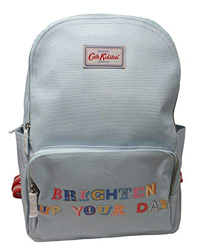 Cath Kidston Brighten up Your day Multi Pocket Backpack Rucksack in Soft Mint Oilcloth