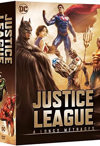Justice League - 4 longs métrages: Le paradoxe Flashpoint + Le Trône de l'Atlantide + Dieux et monstres + vs les Teen Titans - Coffret DVD - DC COMICS