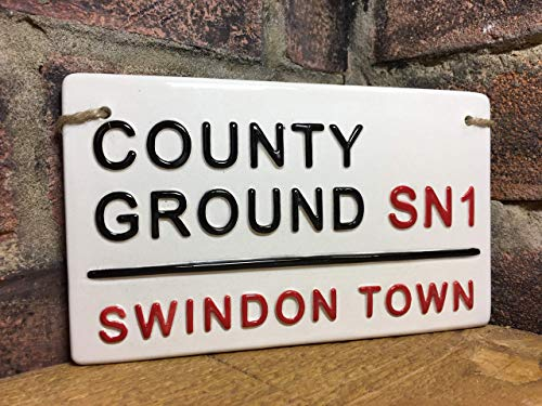 SWINDON TOWN-County Ground-Football Sign-London Street Sign-Football gifts