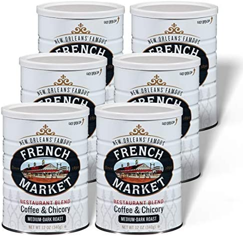French Market Coffee Coffee and Chicory Restaurant Blend Medium Dark Roast Ground Coffee 12 product image