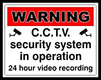 警告CCTVセキュリティシステムビデオ録画メタルプラーク