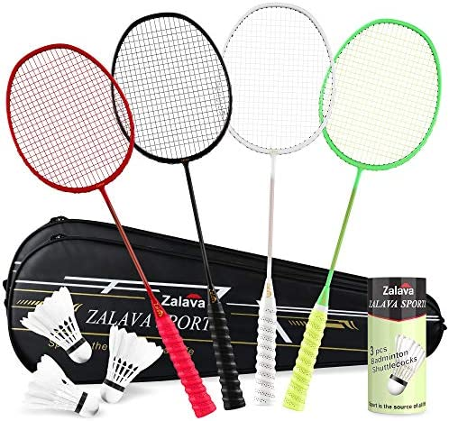 Super Light Badminton Rackets Badminton Racquets Set with Wrapped Overgrip Zalava Badminton product image