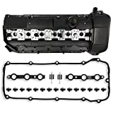 Engine Valve Cover Kit with Gasket & Spark Plug Seals & Bolts & Mount & Washers Compatible with BMW E39 E46 E53 Z3 323i 325i 328i 330i 525i 528i 530i X5 M52/M54 2.5L 2.8L 3.0L Part # 11121432928