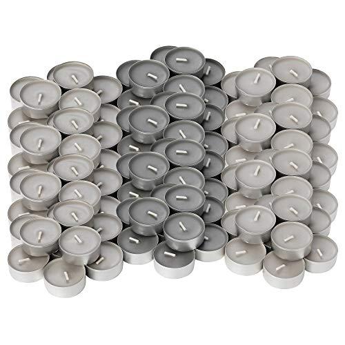 Ikea Sinnlig Teelichter mit Duft Muskatnuss und Vanille, Grau, 120 Stück