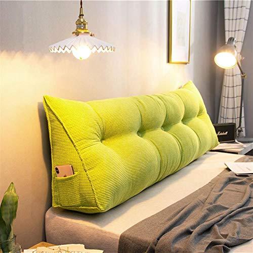 Bedonderstel Wedge Pillow Back Triangle Pillow Back Rest kussen sofa Office Chair Gooi Couch Kussen voor volwassenen Kids, lezen, lounge of werken in Bed, Comfortabel,D,180×23×50cm/70.8×9×19.7