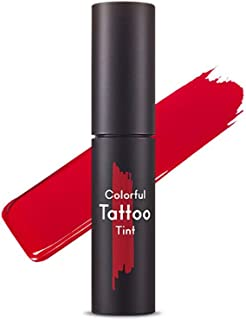 Etude House Tattoo Tint Rd302 Red On Bare Long Lasting Lipstick