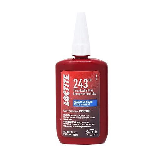 Loctite 1330906 243 Medium Strength Surface Insensitive Threadlocker, 36-milliliter Tube